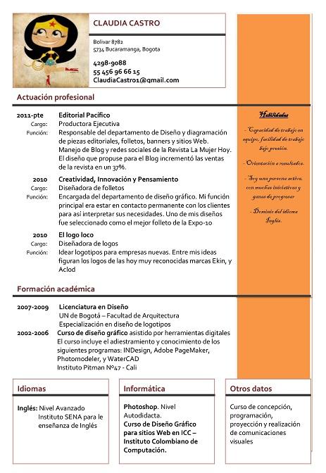 Ejemplos de curriculum vitae - Modelos de Curriculum
